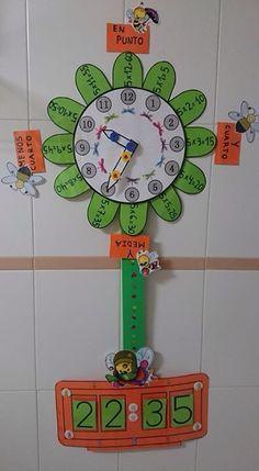 Reloj Maestra Lucia García grupo método ABN