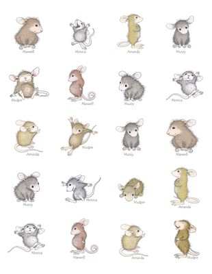"""""""1 Sheet of 20 Round Stickers"""", Stock #: SR-MICE, from House-Mouse Designs®. This item was recently purchased off from our web site, www.house-mouse.com. Click on the image to see more information."""