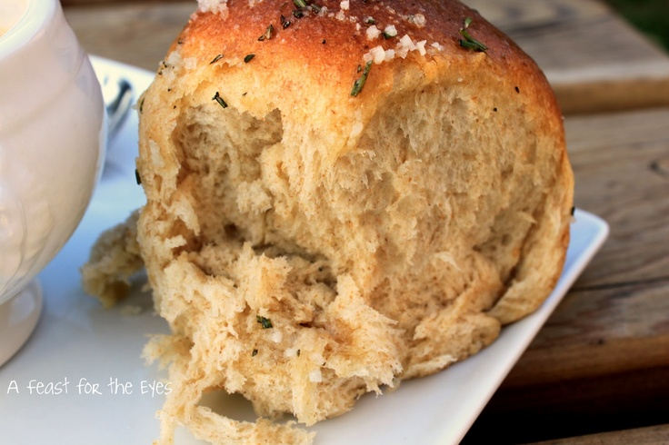 Pioneer Woman's Buttered Rosemary Rolls | Bread | Pinterest