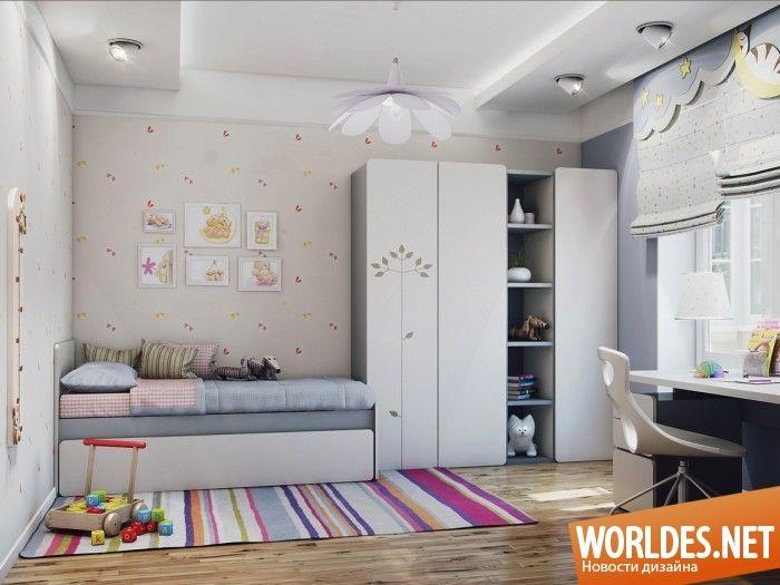 Стильные яркие комнаты для девочек. Дизайн детских комнат для девочек фото 13