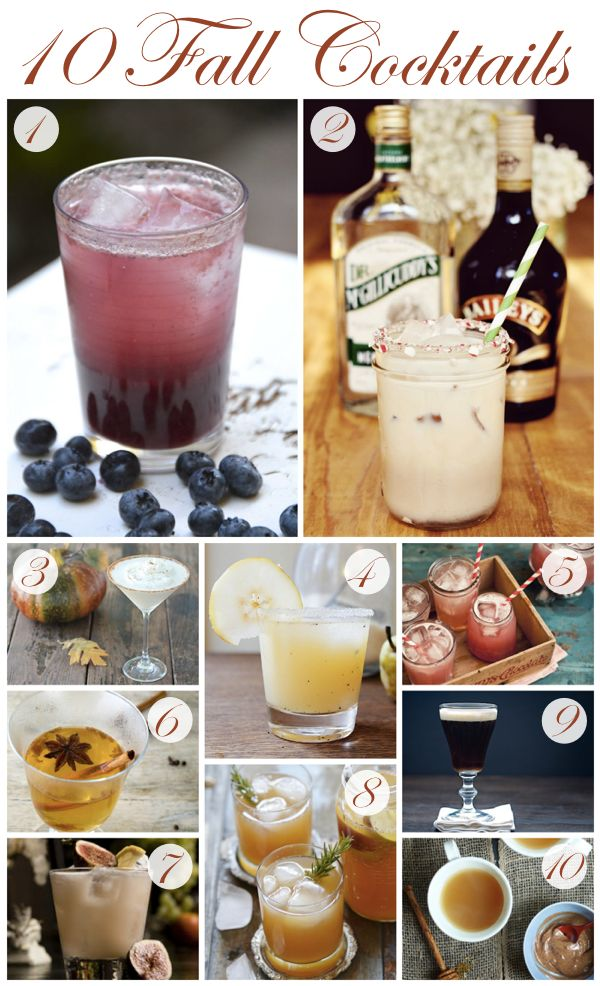 Cozy up this fall with one of these seasonal beverages! {1} This Girl Walks Into A Bar Blueberry Cinnamon Whiskey Cocktail {2} A Beautiful Mess Peppermint White Russian {3} The Blond Cook Spiced Pumpkin Cocktail {4} Two Tarts Vanilla, Pear and Vodka Cocktail {5} What Katie Ate Apple, Ginger and …