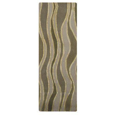 Rug Studio River Flow Wool Beige Area Rug Rug Size: