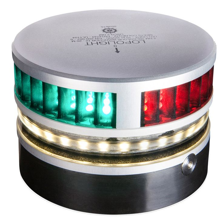 Lopolight Tri-Color Navigation Light w/Anchor Light & Strobe - 2nm f/Vessels 39'(12M) to 65'(20M) - Horizontal Mounting