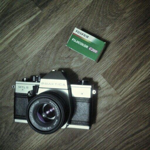 My praktika ready to shoot a fuji C200