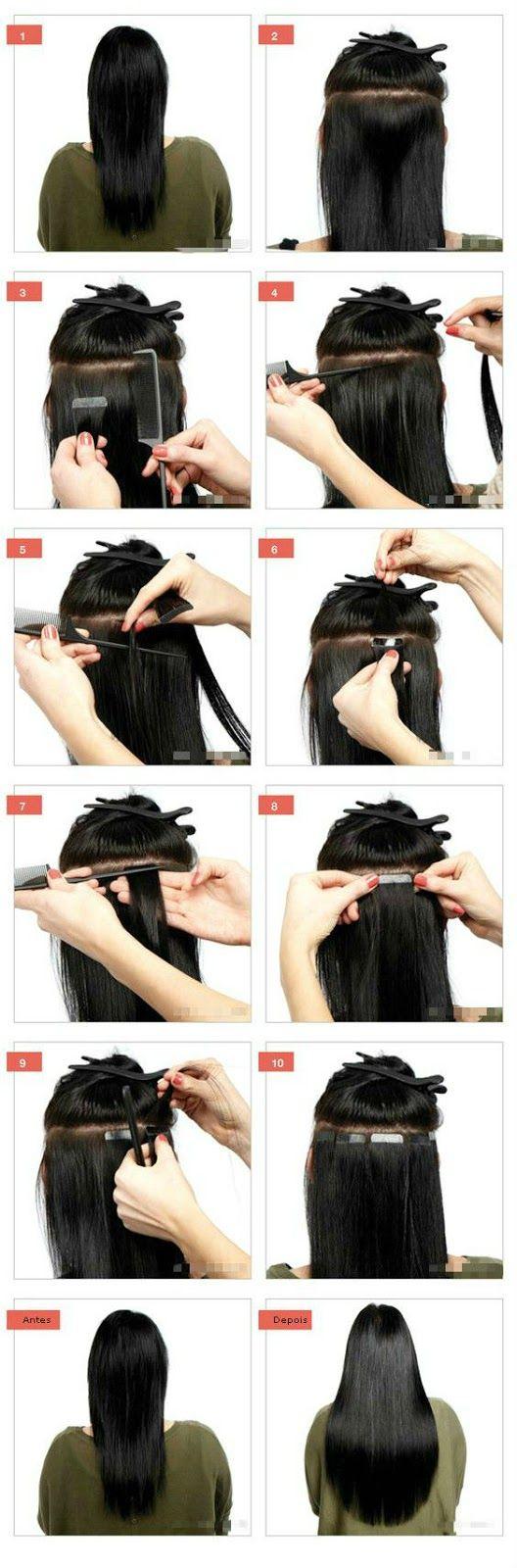 Mega Hair Fita Adesiva Passo a Passo
