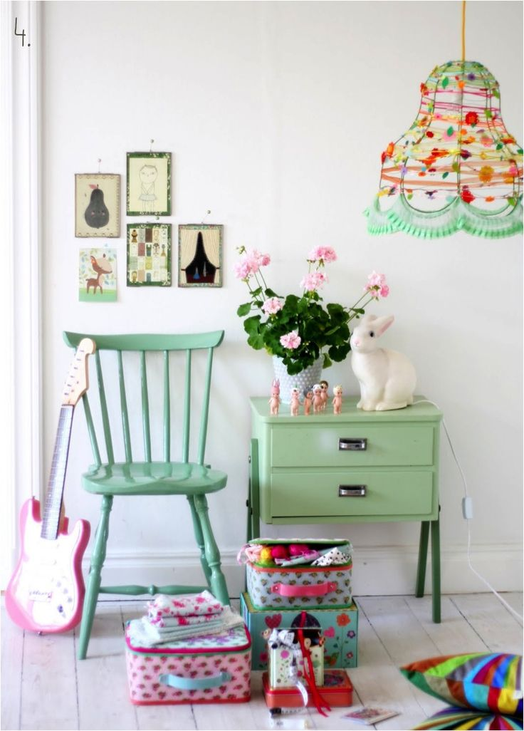 """mint green room kids""  This light shade is AMAZING!!!"