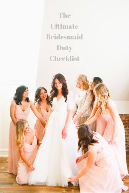 The Ultimate Bridesmaid Duty Checklist by Wedding Planner Tasteful Tatters