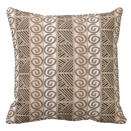 african hand-drawn ethnic pattern throw pillow - patterns pattern special unique design gift idea diy