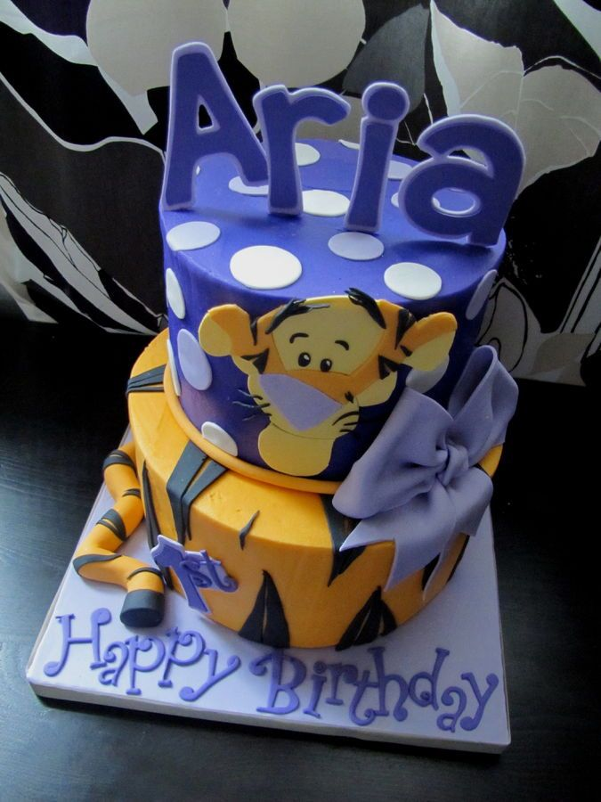 Tigger Cake! — Birthday Cake Photos - I also love the name, but I like it spelled Ariya like in GoT.