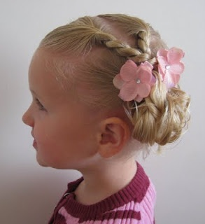Girls hairstyle. Good for short hair.