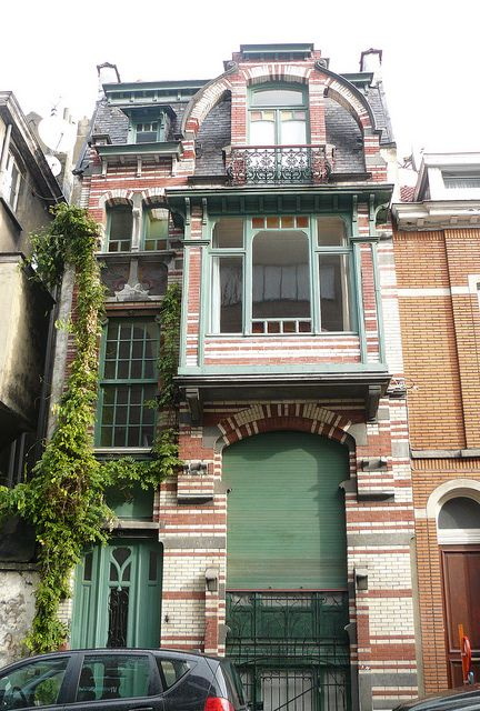 Bruxelles art-nouveau (Belgique), Etterbeek:  architecte Gustave Strauven. by Marie-Hélène Cingal, via Flickr