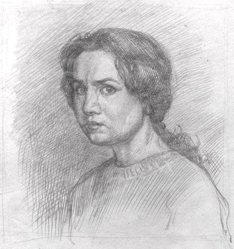 Людмила Томашевская. Автопортрет.