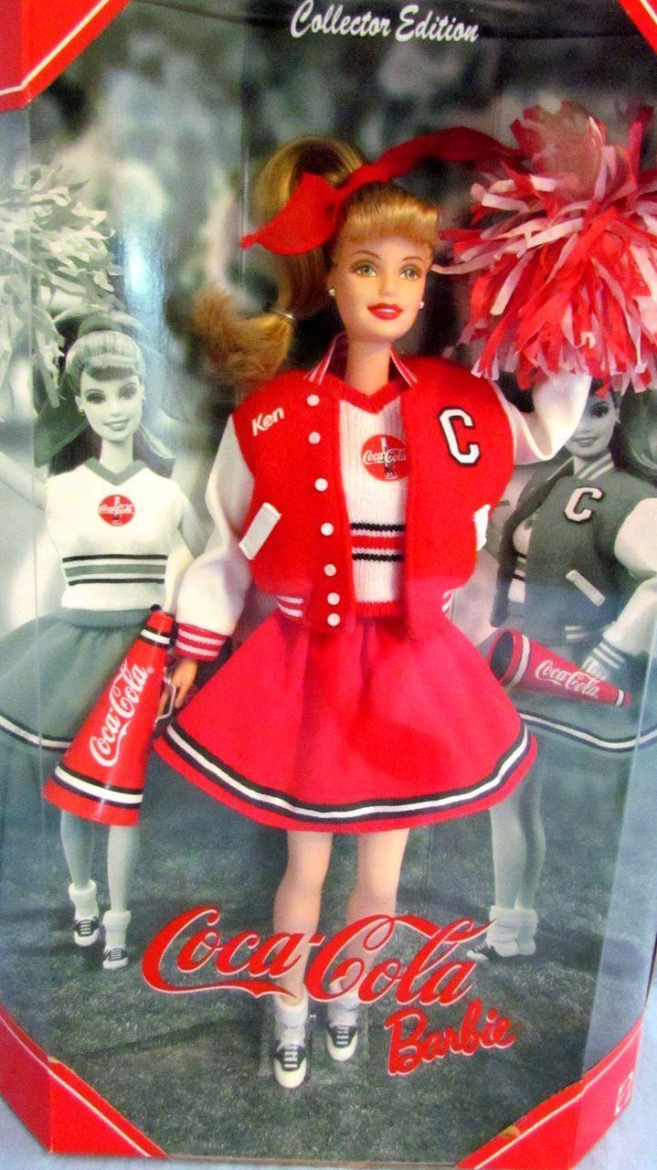 Coca-Cola Cheerleader Barbie Collector Edition, 3rd in the Coca-Cola Barbie 1950's Series, 2000