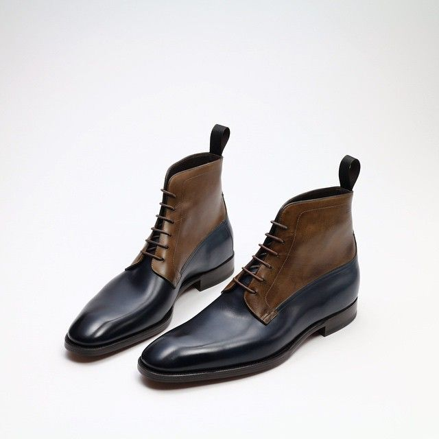 "zonkeyboot: "" Zonkey Boot hand welted derby boots on the High Street last.  Bavarian Calf leather upper, calf leather lining and leather soles."