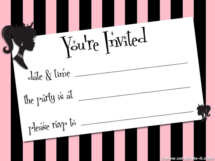 594 best printable party invites images on Pinterest Invitations