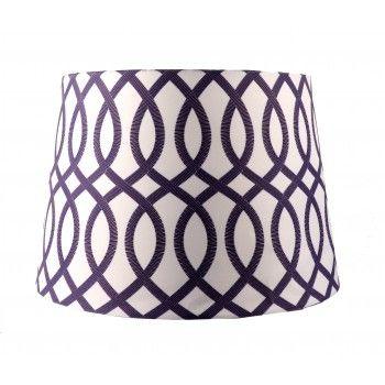 Boardmans purple greek key lamp shade