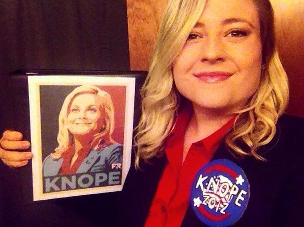This Leslie Knope lookalike. | 23 Ridiculously Clever Halloween Costumes Every TV Lover Will Want