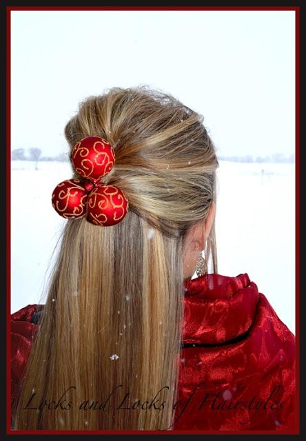 Christmas Hairstyle: Elegant up-do