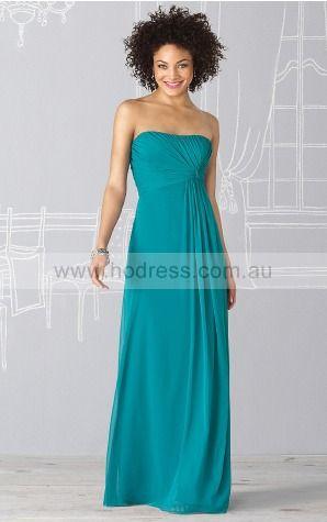 Sleeveless Zipper Strapless Floor-length Chiffon Evening Dresses erfa307103--Hodress