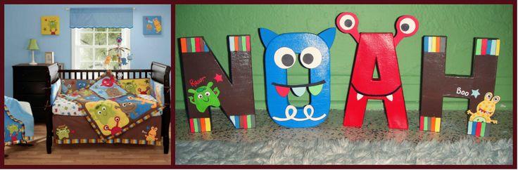 Monster theme nursery by GunnersNook @ Etsy.com