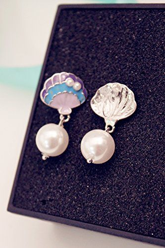 Generic Korean_ fashion jewelry _blue_Seashell_Beach_Resort_ pearl _of hair clip earrings Earring eardrop ear Nail women girl _leave. ** Read more info by clicking the link on the image. #hair