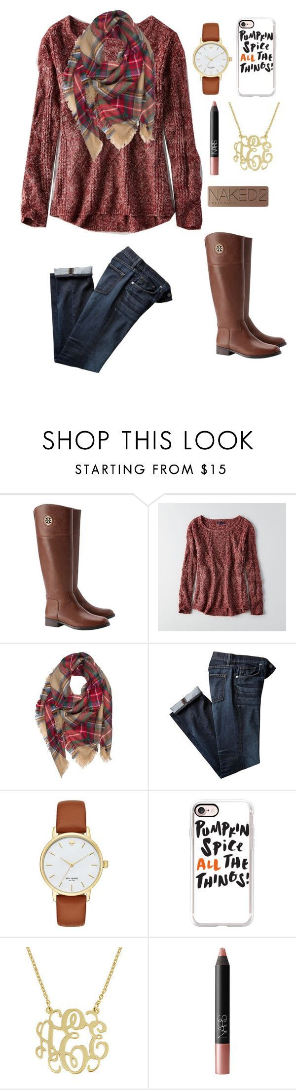 """""""Thanksgiving (Day 1)"""" by mae343 ❤ liked on Polyvore featuring Tory Burch, American Eagle Outfitters, Kate Spade, Casetify, NARS Cosmetics, Urban Decay and 30DaysOfChristmas2k16"""