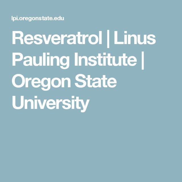 Resveratrol | Linus Pauling Institute | Oregon State University