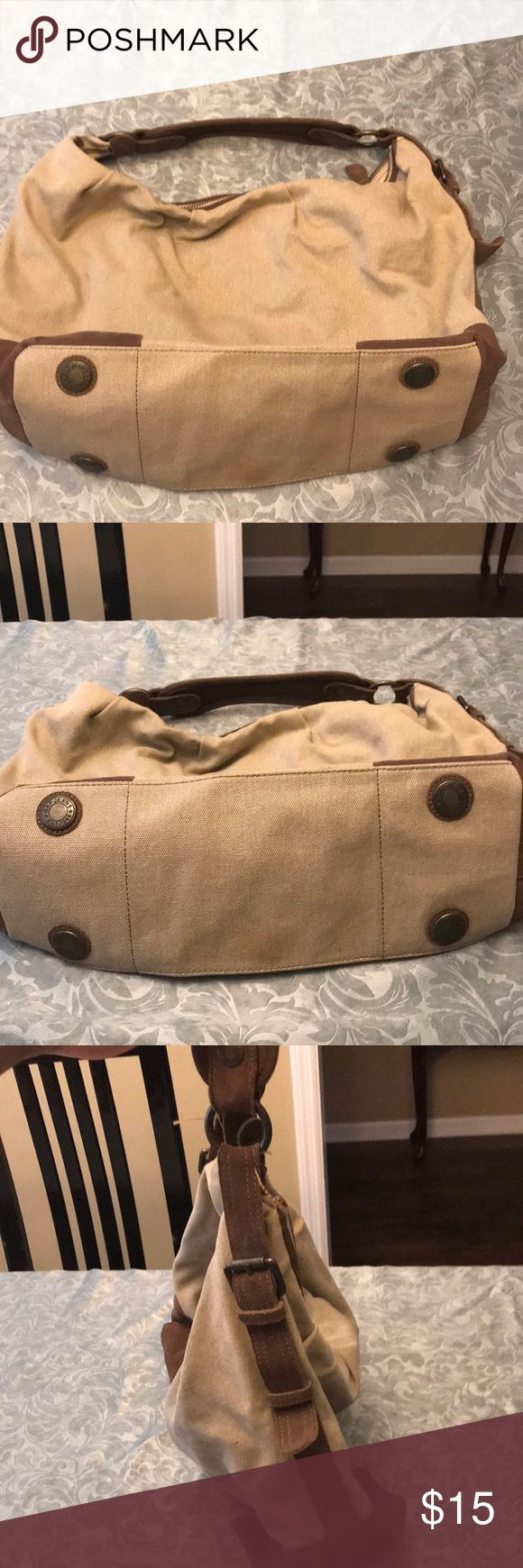 EUC Gap Handbag, suede trim EUC Gap Handbag, Worn a few times, large with suede trim. There is a spot on the bottom and a few pen marks on the inside. Please see photos. Price reflects these flaws. GAP Bags Shoulder Bags