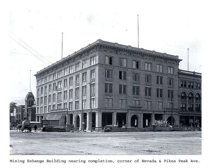 1902 mining exchange building near completion colorado. Black Bedroom Furniture Sets. Home Design Ideas