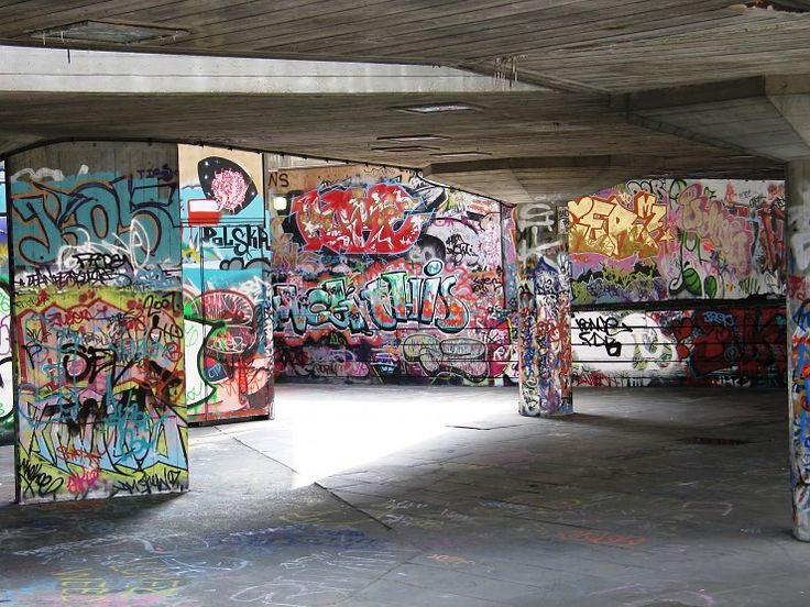 Graffiti Skate Park in Inner London, skate parks are only of the only places where graffiti can be legally thrown up.