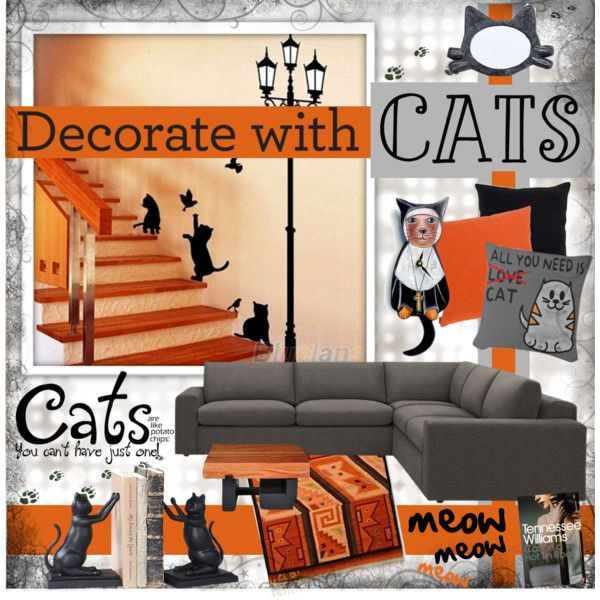 Decorate With Cats by katjuncica on Polyvore featuring interior, interiors, interior design, home, home decor, interior decorating, Missoni Home, Villa Home Collection, contestentry and decoratewithcats