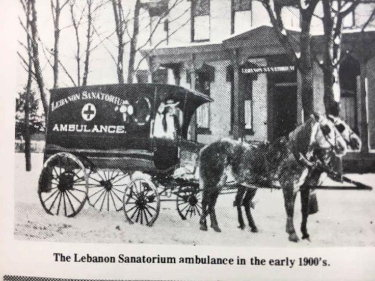 The Lebanon, PA Sanitorium horsedrawn ambulance vintage