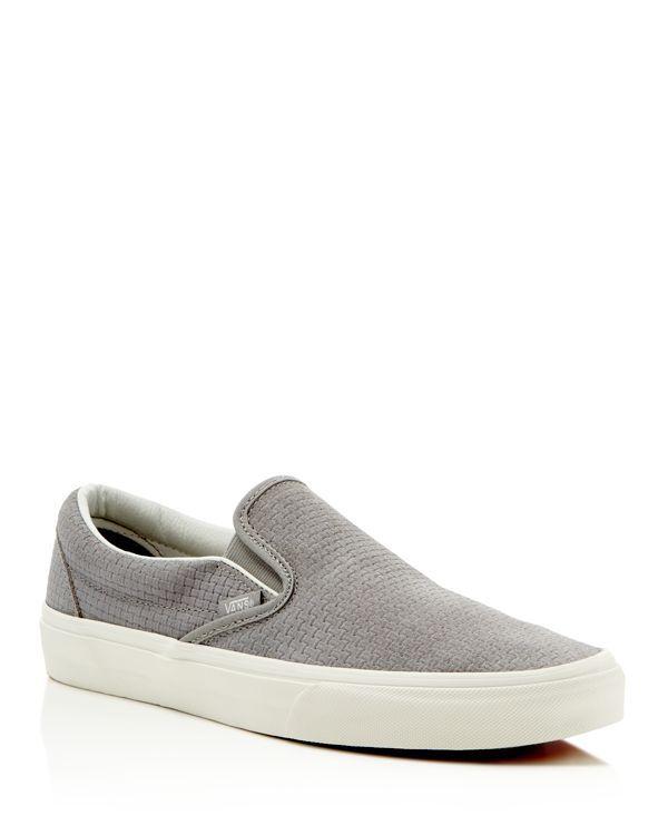 Vans Embossed Suede Classic Slip On Sneakers