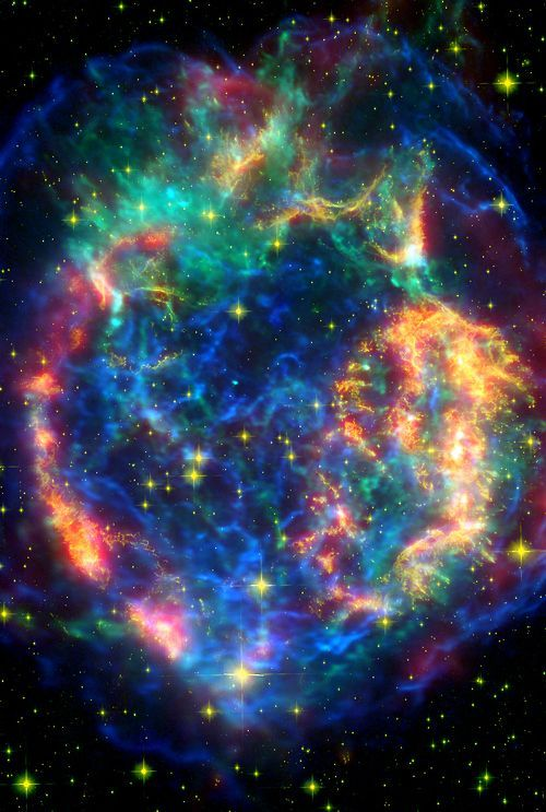 Cassiopeia -- New Photo Reveals 'Ghostly' Green Nebula in Deep Space An amazing…