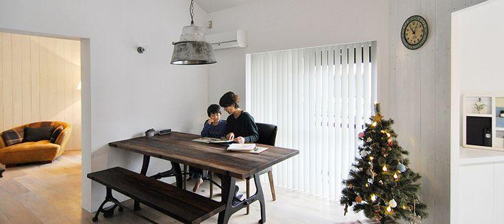 家族で楽しむ円形プランの家  こだわりのテクスチュアは 古材のテイスト