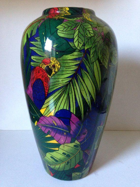 Parrot Vase Tropical Vase New Home Gift Colourful Vase Large