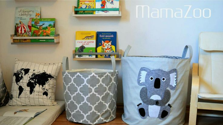 Our new koala basket looks great with grey accents. Try the IKEA shelves too. www.mamazoo.hu