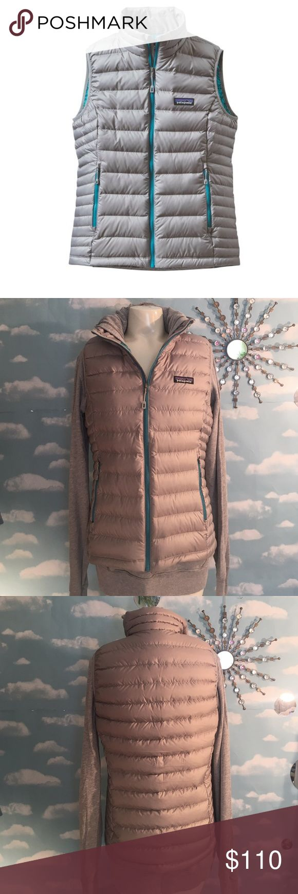 Patagonia Down Sweater Vest New w Tags attached, color is drifter grey, size medium. Pics 1 & 3 depict color most accurately. 🚫I do not Trade, Posh rules only , Reasonable offers welcome! Thank you! Patagonia Jackets & Coats Vests