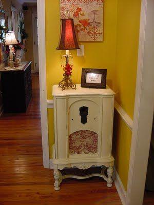 Re-purpose an antique radio cabinet