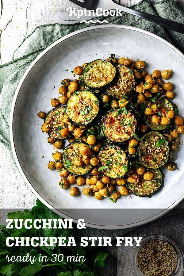 Zucchini Chickpea Stir Fry Rezept Rezepte Gesunde Rezepte Kichererbsen
