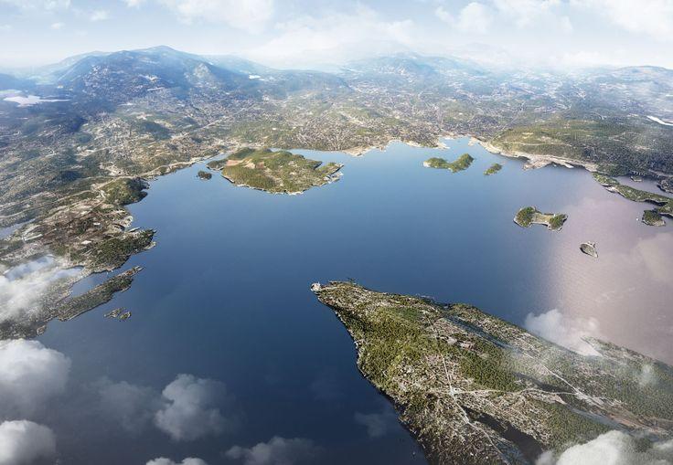 Aerial shot of landscape | Oversiktskart | Akershus Eiendom