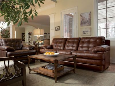 Comfy Leather couch/chair at Stacy's Furniture