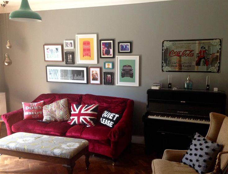 27 besten Wandfarbe Grau Bilder auf Pinterest Wandfarbe grau - wohnzimmer ideen rot grau