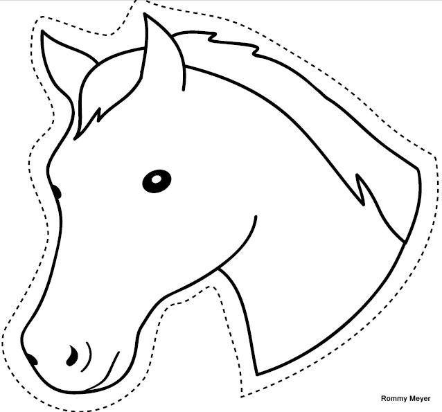 ausschneiden pferde 1  ausmalbilder malvorlagen