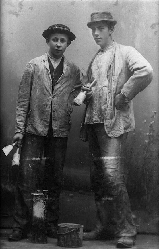 Painter's apprentices, early 1900s, unknown photographer, Norway