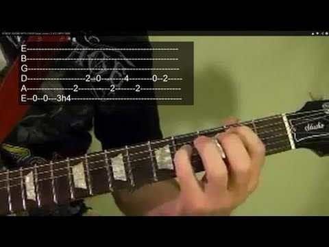 ▶ 25 BEST GUITAR RIFFS EVER! Guitar Lesson ( 2 of 2 ) WITH TABS - YouTube