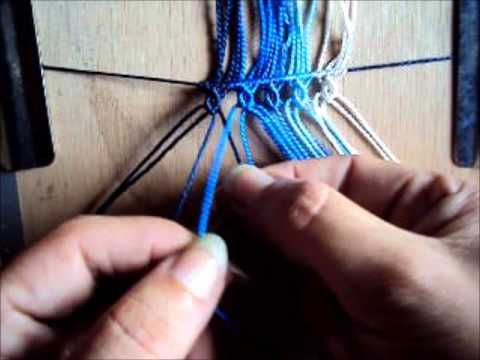 This tutorial is great because it shows how to create these twisting effects often used in the traditional macrame using half hitch knots (i think) in certain combinations