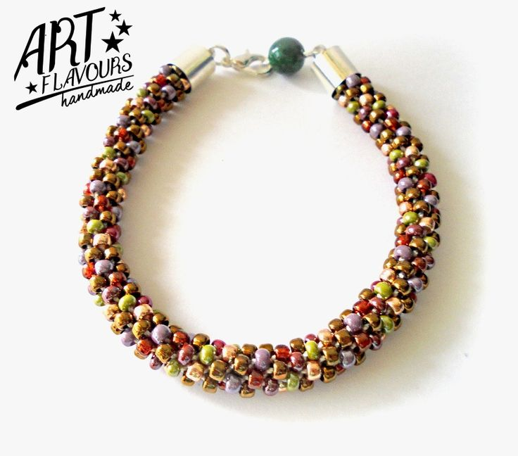 autumn bracelet in green style