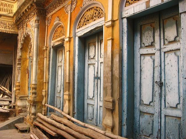 Shaun D  Metcalfe's doors in Chowk Lucknow