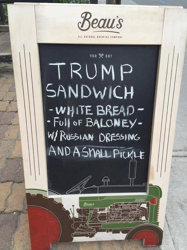 This deli will make America great again. That sandwich sounds fucking awful, just like its namesake haha